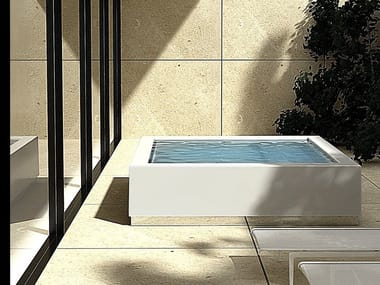 Overflow outdoor hot tub QUADRAT MINIPOOL