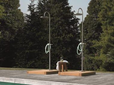Stainless steel outdoor shower SHOWER COLUMNS