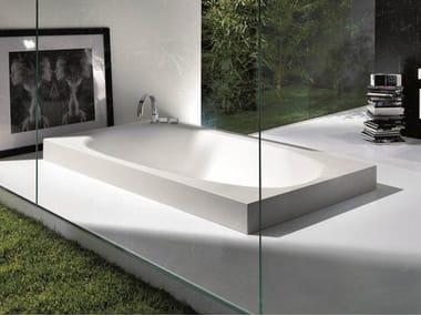 Semi-inset Cristalplant® bathtub SHAPE | Bathtub