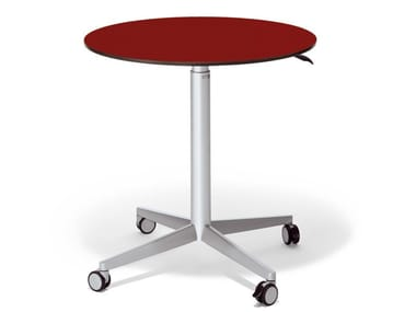 Height-adjustable meeting table with castors CART LIFT TABLE