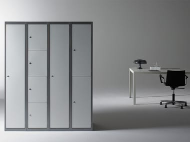 Metal Locker TRENDLINE SILVER