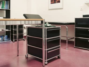 Metal office drawer unit with casters USM HALLER PEDESTAL | Office drawer unit