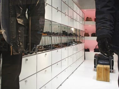 Shop furnishing USM HALLER STORAGE SYSTEM FOR RETAIL | Shop furnishing
