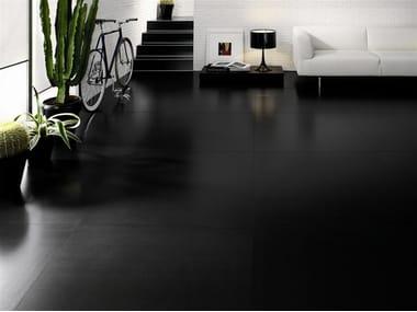 Pavimento/rivestimento ultrasottile in gres laminato BLACK-WHITE
