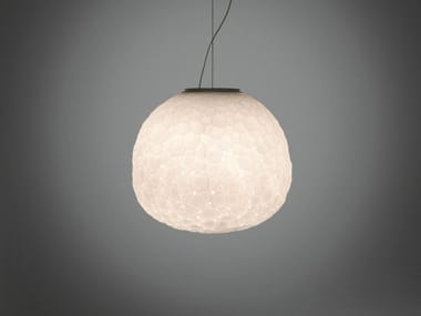 Blown glass pendant lamp METEORITE | Pendant lamp