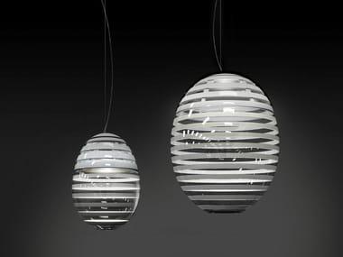 LED direct light blown glass pendant lamp INCALMO | Pendant lamp