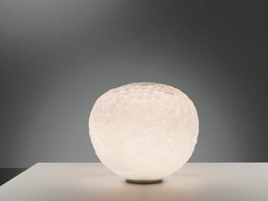 Blown glass table lamp METEORITE | Table lamp