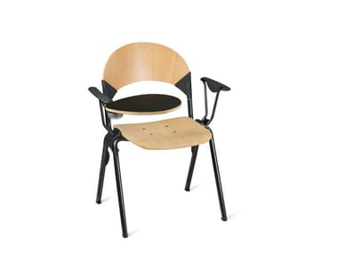 Stackable wooden training chair with writing tablet GATE | Training chair with writing tablet