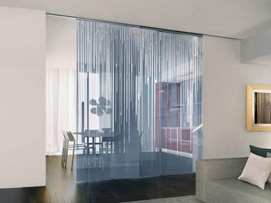 Decorated glass movable wall / Sliding door ALPHA ARTIDE