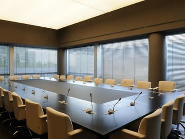 Rectangular wooden conference table PARK AVENUE | Rectangular conference table