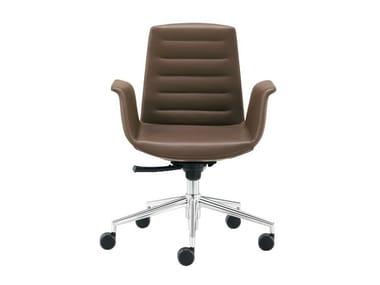 Swivel easy chair with 5-spoke base MODÀ   Easy chair with 5-spoke base
