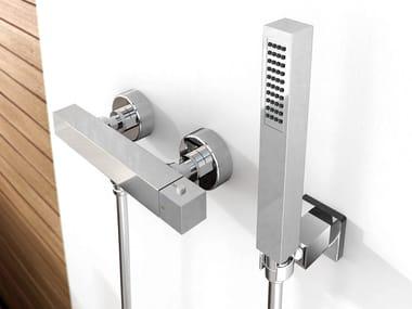 Chromed brass bathtub mixer ZETA | Bathtub mixer with hand shower