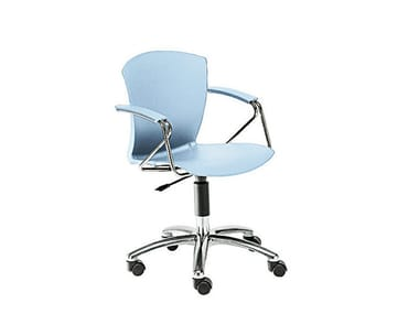 Chair with 5-spoke base with castors CARINA | Chair with 5-spoke base