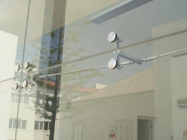 Point-fixed glass facade FITECHNIC FI2H-ROD System