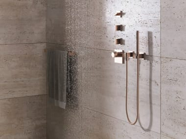 Wall-mounted handshower with hose with individual rosettes MEM | Wall-mounted handshower