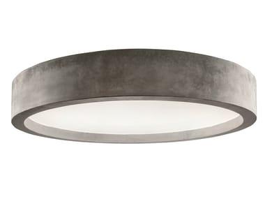 Lámpara de techo LED de cemento ZERO51 | Lámpara de techo