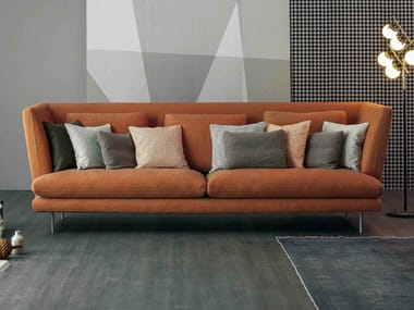 Upholstered fabric sofa with removable cover LARS HIGH | Sofa