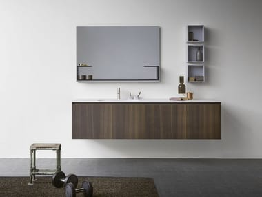 Wall-mounted vanity unit with drawers MOODE | Wall-mounted vanity unit