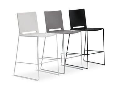 High polypropylene stool with back LAFILÒ PLASTIC | Stool
