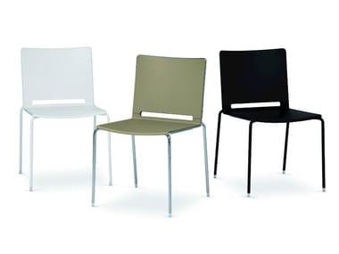 Cadeira empilhável de polipropileno LAFILÒ PLASTIC | Cadeira empilhável