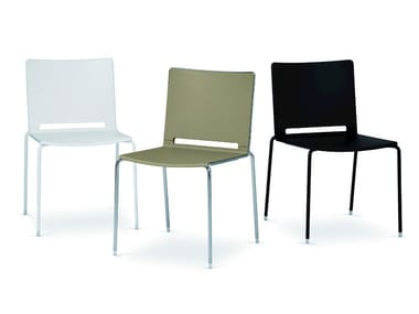 Chair 4 legs LAFILÒ PLASTIC | Stackable chair