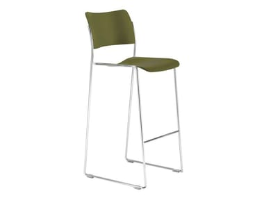 High stackable sled base stool 40/4 | Barstool