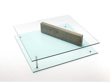 Tavolino da caffè in vetro PLANE