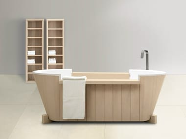 Freestanding solid wood bathtub NORVEGIA | Bathtub
