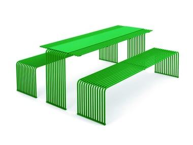 Tavolo per spazi pubblici rettangolare in metallo ZEROQUINDICI.015 | Tavolo per spazi pubblici