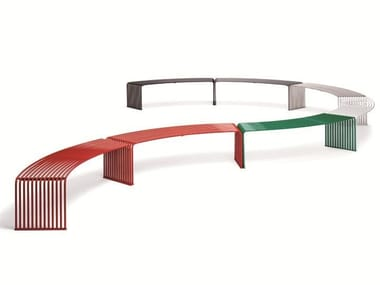Curved backless metal Bench ZEROQUINDICI.015 | Curved Bench