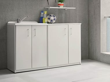 Outdoor laundry room cabinet with sink BRACCIO DI FERRO | Laundry room cabinet with sink