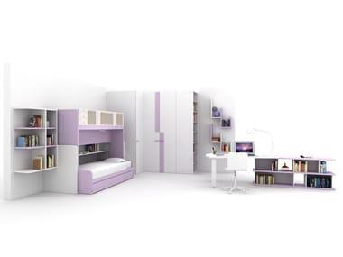 Loft teenage bedroom Z407 | Bedroom set