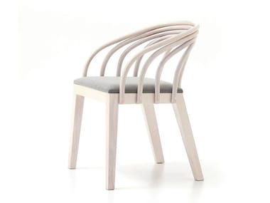 Ash easy chair with armrests LOOP
