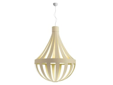 Fluorescent Eco-leather pendant lamp ANADEM | Pendant lamp