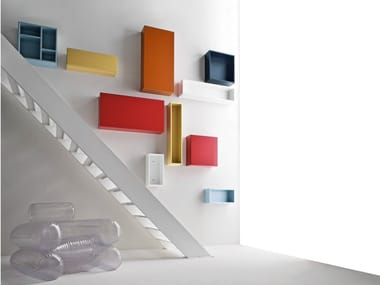 Lacquered wall cabinet CINQUANTA | Lacquered wall cabinet