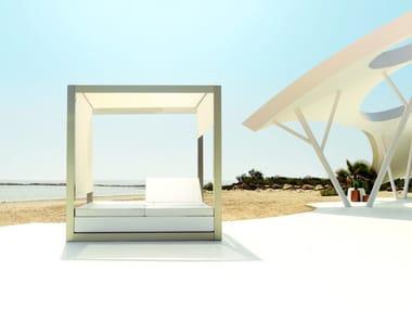 Letto da giardino reclinabile a baldacchino VELA | Letto da giardino reclinabile
