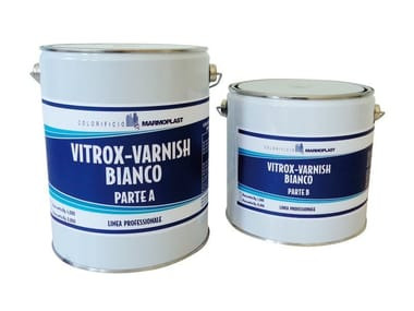 To vitrify food tanks VITROX-VARNISH WHITE