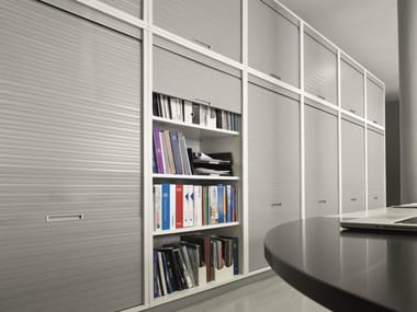 Modular office storage unit with tambour doors XBOX | Office storage unit