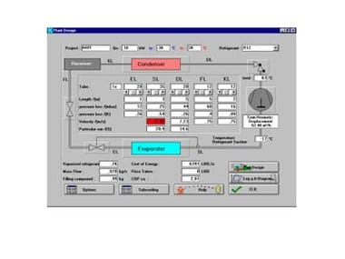 Thermo-refrigeration plantroom design COOLTOOL