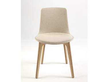 Contemporary style upholstered fabric chair LOTTUS WOOD | Upholstered chair