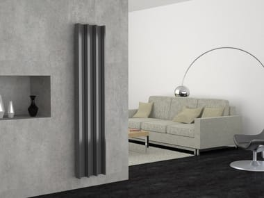 Vertical aluminium decorative radiator GROOVE