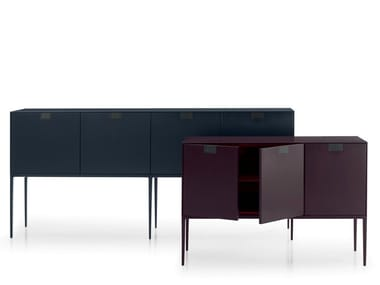 Lacquered wooden sideboard with doors ALCOR | Sideboard with doors