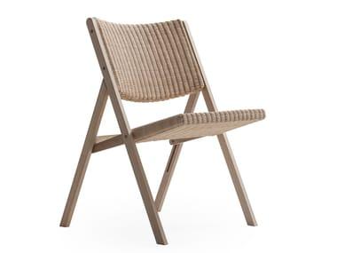 Design folding ash chair D.270.1 | Woven wicker chair