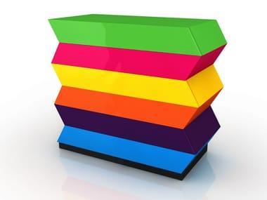 Aluminium chest of drawers JOAN