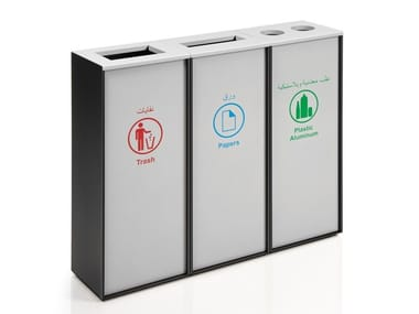 Polycarbonate litter bin ZURICH PLUS