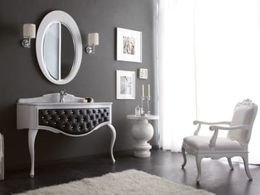 Tufted console sink with drawers GLAM 04