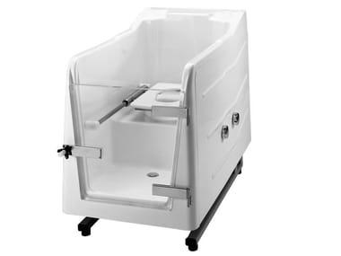 Vasca da bagno a tenuta stagna in vetroresina con porta 700 | Vasca da bagno