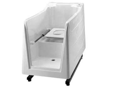 Vasca da bagno in vetroresina con WC integrato 800 | Vasca da bagno