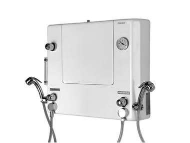 Quadro di comando a muro con doccette per disinfezione 1000