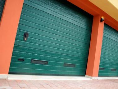 Galvanized steel sectional door ARS RL42 | Garage door
